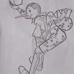 Pinocchio da colorare